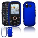 Hard Plastic Rubber Feel Faceplate Case Cover for Samsung Intensity U450 - Dark Blue