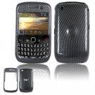 Hard Plastic Design Cover Case for BlackBerry Curve 8520 (T-Mobile) - Black Carbon Fiber