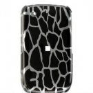 Hard Plastic Design Cover Case for BlackBerry Curve 8520 (T-Mobile) - Black Giraffe