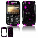 Hard Plastic Design Cover Case for BlackBerry Curve 8520 (T-Mobile) - Pink Stars