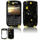 Hard Plastic Design Cover Case for BlackBerry Curve 8520 (T-Mobile) - Yellow Stars