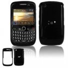 Hard Plastic Glossy Smooth Case for BlackBerry Curve 8520 (T-Mobile) - Black