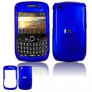 Hard Plastic Glossy Smooth Case for BlackBerry Curve 8520 (T-Mobile) - Dark Blue