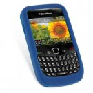 Soft Rubber Silicone Skin Cover Case for BlackBerry Curve 8520 - Blue