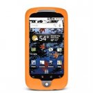 Soft Rubber Silicone Skin Cover Case for Google Nexus One - Orange