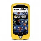 Soft Rubber Silicone Skin Cover Case for Google Nexus One - Yellow