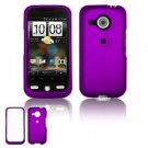 Hard Plastic Rubber Feel Faceplate Case Cover for HTC Droid Eris - Dark Purple