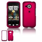 Hard Plastic Rubber Feel Faceplate Case Cover for HTC Droid Eris - Rose Pink