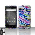 Hard Plastic Design Faceplate Case Cover for Motorola Droid - Colorful Stripes