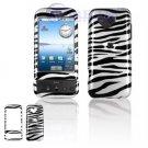 Hard Plastic Design Cover Case for Google G1 - Black / White Zebra Stripes