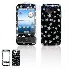Hard Plastic Design Cover Case for Google G1 - Black Stars