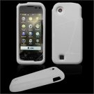 Soft Rubber Silicone Skin Cover Case for LG Chocolate Touch - Clear (Milky White)