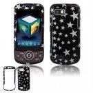Hard Plastic Design Hard Case for Samsung Behold 2 T939 - Black/Silver Stars