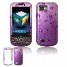 Hard Plastic Design Hard Case for Samsung Behold 2 T939 - Purple Rain Drops