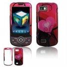Hard Plastic Design Hard Case for Samsung Behold 2 T939 - Red/Pink Heart