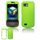 Hard Plastic Rubber Feel Faceplate Case Cover for Samsung Behold 2 T939 - Green
