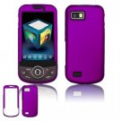 Hard Plastic Rubber Feel Faceplate Case Cover for Samsung Behold 2 T939 - Purple