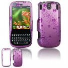Hard Plastic Design Faceplate Case Cover for Palm Pixi - Purple Rain Drops