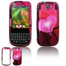 Hard Plastic Design Faceplate Case Cover for Palm Pixi - Red/Pink Hearts