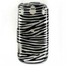 Hard Plastic Design Faceplate Case Cover for Palm Pixi - Silver/Black