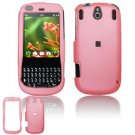 Hard Plastic Rubber Feel Faceplate Case Cover for Palm Pixi - Baby Pink