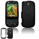 Hard Plastic Rubber Feel Faceplate Case Cover for Palm Pixi - Black