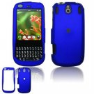 Hard Plastic Rubber Feel Faceplate Case Cover for Palm Pixi - Dark Blue