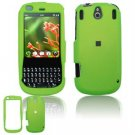 Hard Plastic Rubber Feel Faceplate Case Cover for Palm Pixi - Green