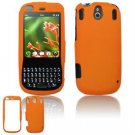 Hard Plastic Rubber Feel Faceplate Case Cover for Palm Pixi - Orange