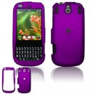 Hard Plastic Rubber Feel Faceplate Case Cover for Palm Pixi - Purple