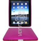 "Pink 1-Pc Hard Rubber Semi-Transparent Case w/ ""Circle Design"" for Apple iPad"