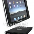 "Black Leather ""Slider"" Case for Apple iPad"