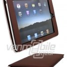 "Brown Leather ""Slider"" Case for Apple iPad"