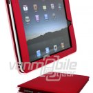 "Red Leather ""Slider"" Case for Apple iPad"