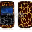 Brown Giraffe Hard Design 2-Pc Snap On Faceplate Case for BlackBerry Bold 9700