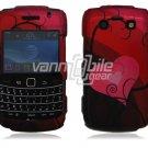 Red Heart Design Hard Case for BlackBerry Bold 2 9700