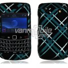 Light Blue/Black Design Hard Case for BlackBerry Bold 2 9700