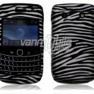 Silver/Black Hard Design 2-Pc Snap On Faceplate Case for BlackBerry Bold 9700