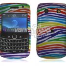 Colorful Stripes Hard Design 2-Pc Snap On Faceplate Case for BlackBerry Bold 9700