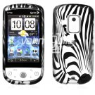 Silver Zebra Face Design Hard 2-Pc Snap On Faceplate Case for HTC Hero CDMA (Sprint)