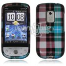 Blue Plaid Design Hard Case for HTC Hero (Sprint)