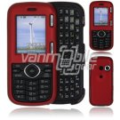 "Red Hard ""Rubberized"" 2-Pc Plastic Snap On Faceplate Case for LG Cosmos/LG Rumor 2 (Verizon/Sprint)"