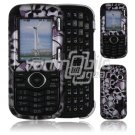 Black Skulls Design Hard 2-Pc Snap On Faceplate Case for LG Cosmos/LG Rumor 2 (Verizon/Sprint)