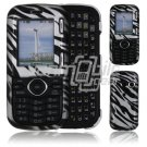 Silver/Black Design Hard 2-Pc Snap On Faceplate Case for LG Cosmos/LG Rumor 2 (Verizon/Sprint)