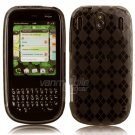 Gray/Smoke Argyle Design Hard 1-Pc Rubber Case for Palm Pixi (Plus)
