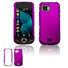 "Purple Hard ""Rubber Feel"" Case for Samsung Mythic A897 (AT&T)"