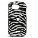 Black/Silver Zebra Design Hard Case for Samsung Mythic A897