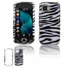 Black/White Zebra Design Hard Case for Samsung Mythic A897