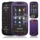 "Lavender Hard ""Rubberize"" 2-Pc Snap On Plastic Faceplate Case for Samsung Reality U820 (Verizon)"