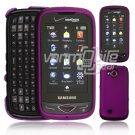 "Purple Hard ""Rubberize"" 2-Pc Snap On Plastic Faceplate Case for Samsung Reality U820 (Verizon)"